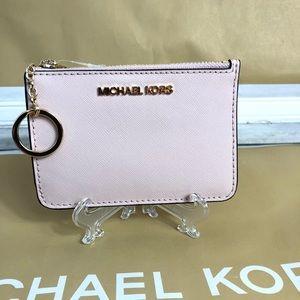 Michael Kors Small Coin Pouch Wallet Card Pink